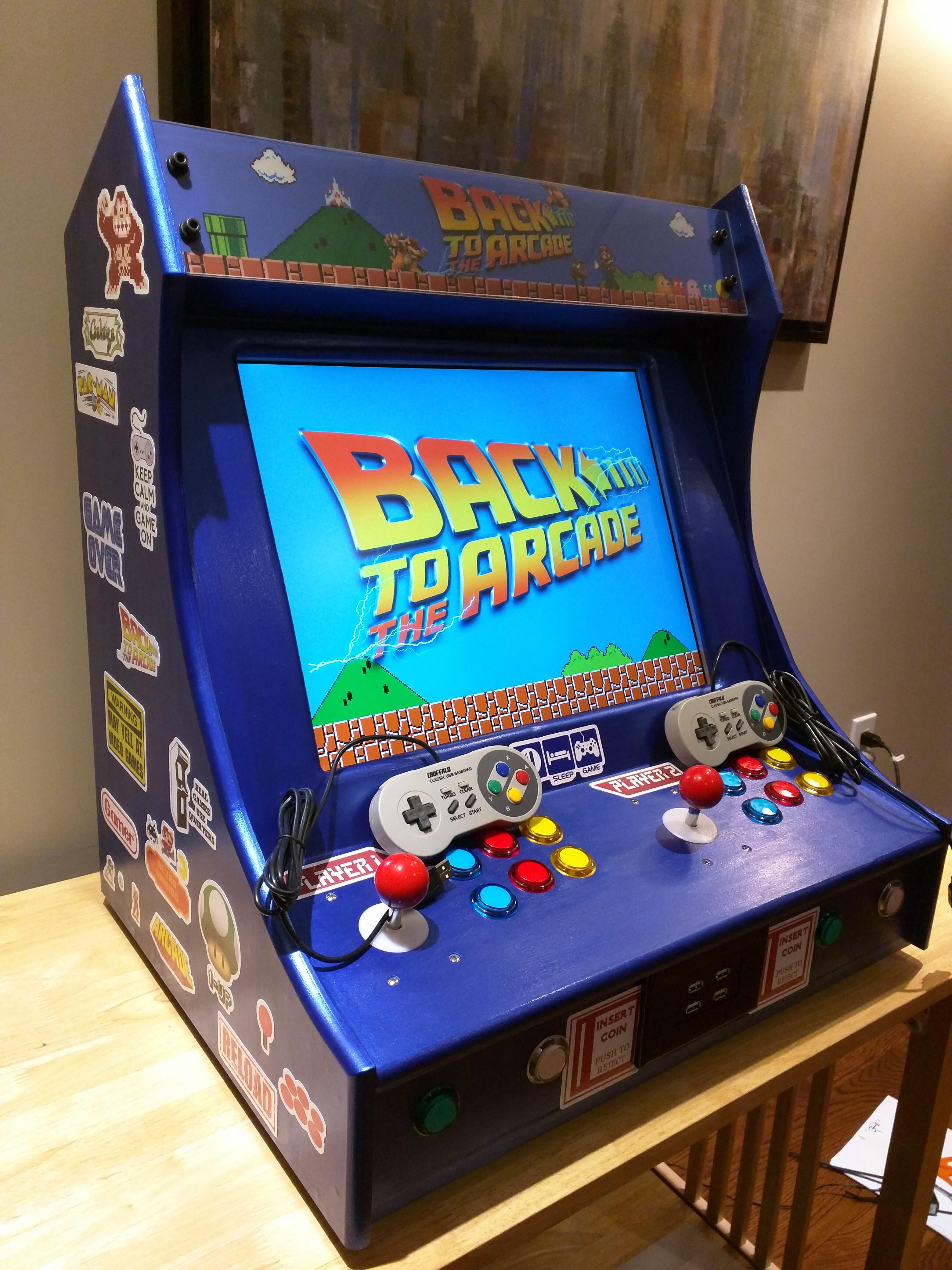 Updated Raspberry Pi Bar Top Arcade Droidkid
